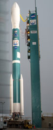 Delta II with OCO-2 at Space Launch Complex 2, Vandenberg Air Force Base, California